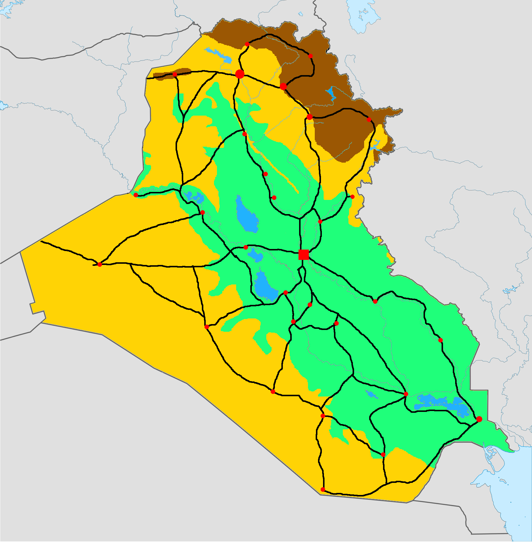 iraq phisical map2xcf